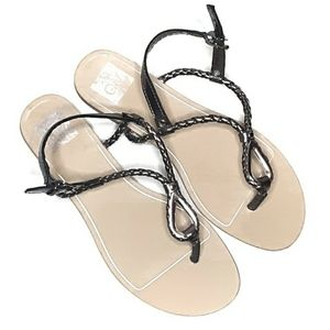 DV Braided Faux Leather Sandals